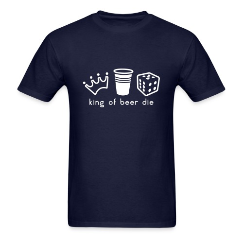 KING OF BEER DIE V2 - Men's T-Shirt