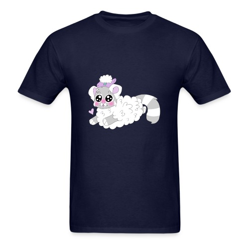 cute red panda in sheep cosplay - Men's T-Shirt