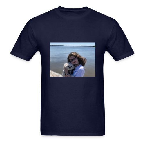Cute Merch With Dog And Girl - Men's T-Shirt