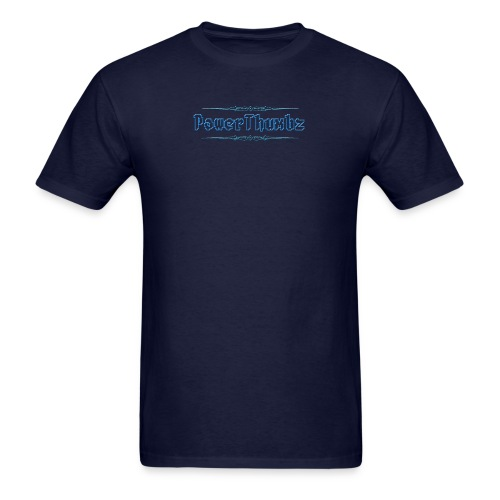 PowerThumbz Tag Blue - Men's T-Shirt