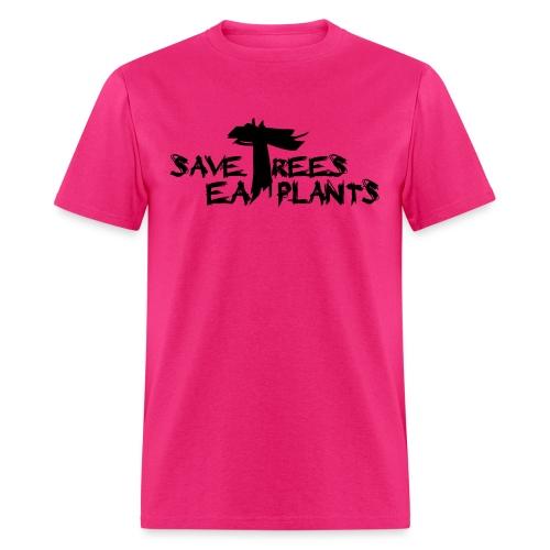Eat plants, black - Men's T-Shirt