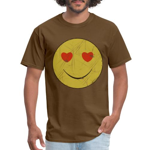 smiley face in love - Men's T-Shirt