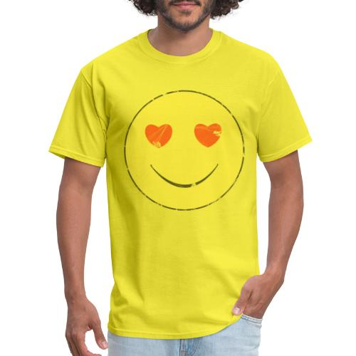 smiley face in love - Men's T-Shirt