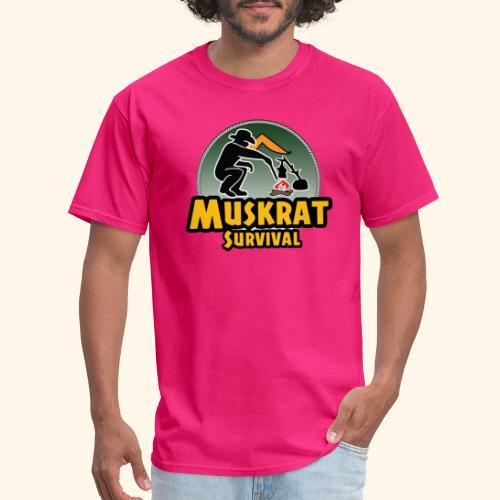 Muskrat round logo - Men's T-Shirt