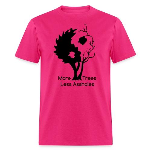 in tree black text - Men's T-Shirt