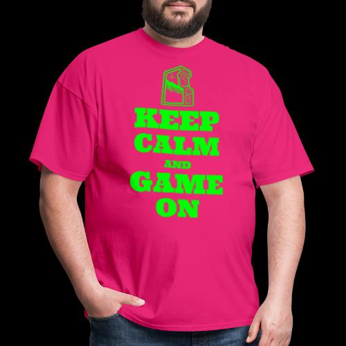 Keep Calm and Game On | Retro Gamer Arcade - Men's T-Shirt