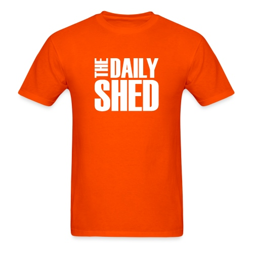 The Daily Shed - White - Men's T-Shirt