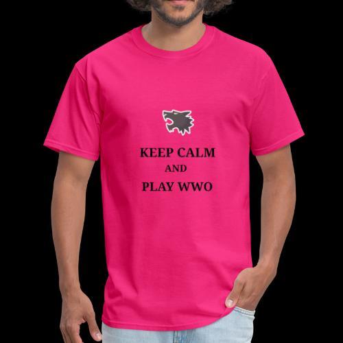 KEEP CALM AND PLAY WEREWOLF - Men's T-Shirt