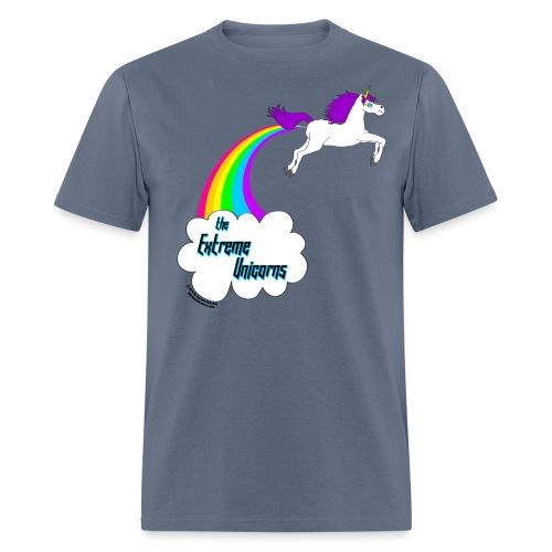 rainbow farting unicorn - Men's T-Shirt