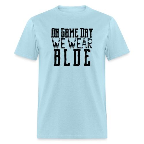 we wear blue png - Men's T-Shirt