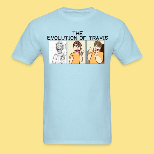 The Evolution of Travis - Men's T-Shirt