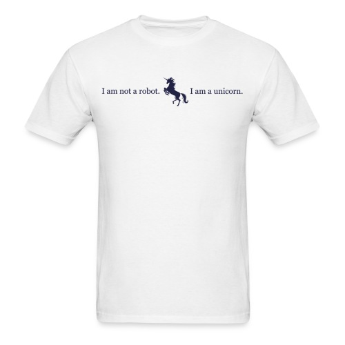 unicorn 3 final dark blue - Men's T-Shirt