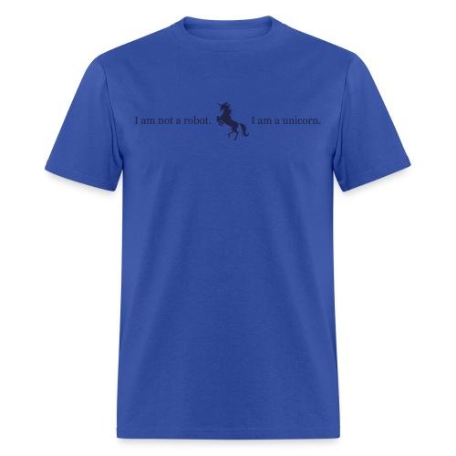 unicorn 3 final dark blue - Men's T-Shirt