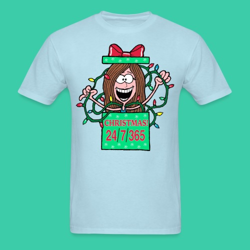 Rachel Christmas 365 gif - Men's T-Shirt