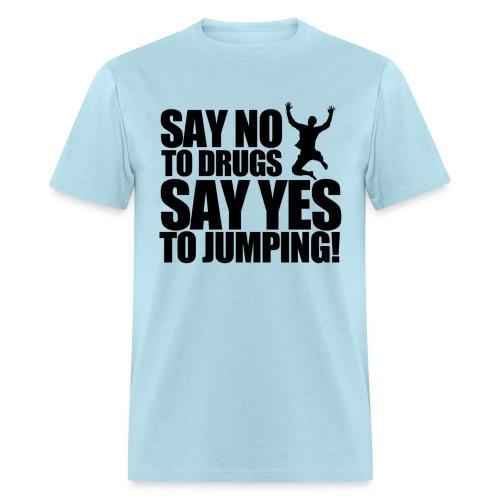 jumping - Men's T-Shirt