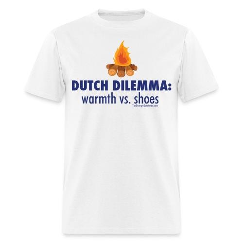 05 Dutch Dilemma blue lettering - Men's T-Shirt