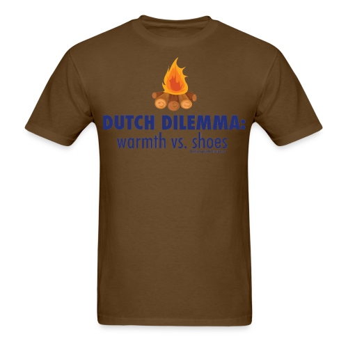 05 Dutch Dilemma blue lettering - Men's T-Shirt