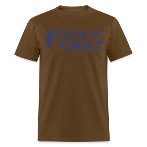 ts i love house music V2 - Men's T-Shirt