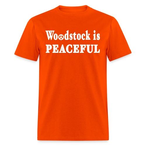 New York Old School Woodstock is Peaceful - Men's T-Shirt