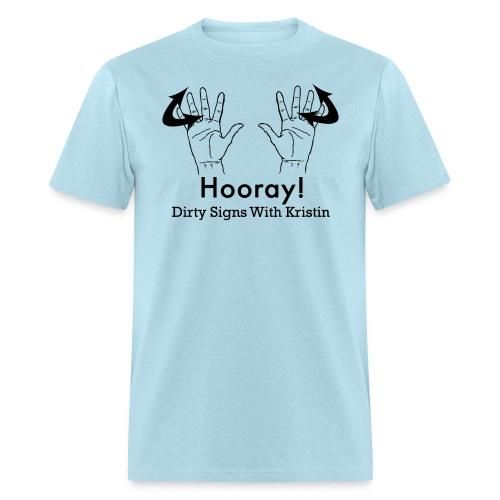 Hooray Hands in black - Men's T-Shirt