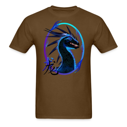 Horned Black Dragon and Symbol - Men's T-Shirt