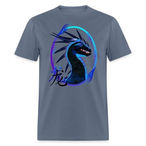 Horned Black Dragon and Symbol - Men's T-Shirt