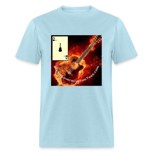 Burning Guitar - Men's T-Shirt