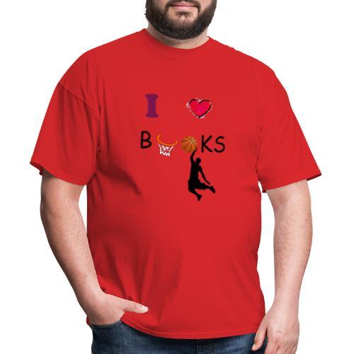 I love Books  Tshirt Books Basketball - Men's T-Shirt