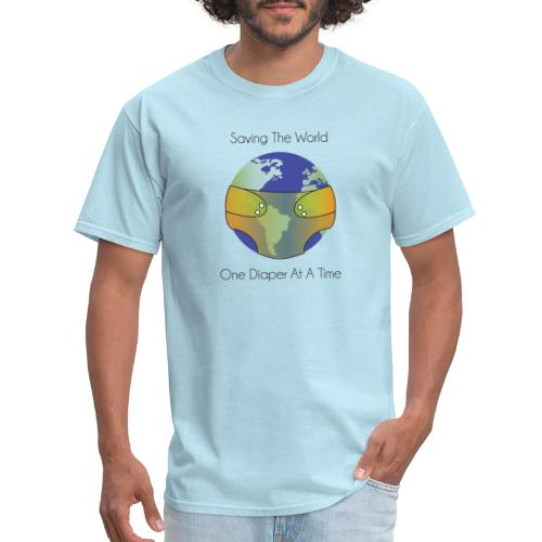 Saving the World One Diaper at a Time - Men's T-Shirt