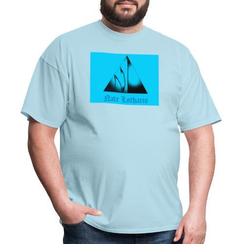 Aqua Blue Logo - Men's T-Shirt