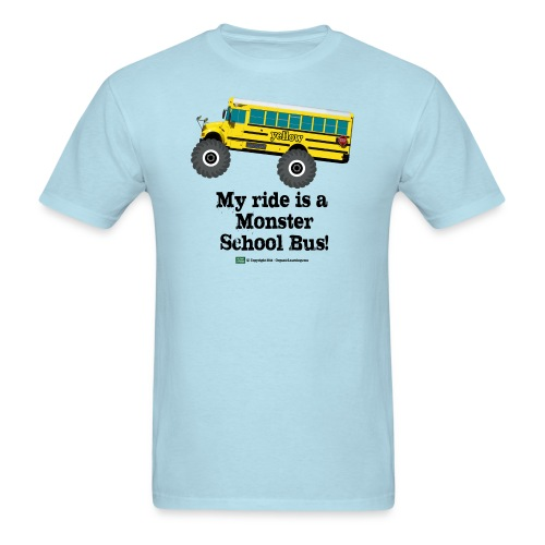 Monster Schoolbus Spreadshirt 3 png - Men's T-Shirt