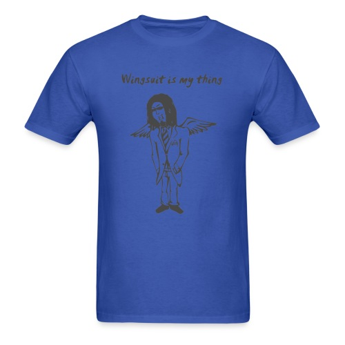 wingsuit tshirt vector design 2 - Men's T-Shirt