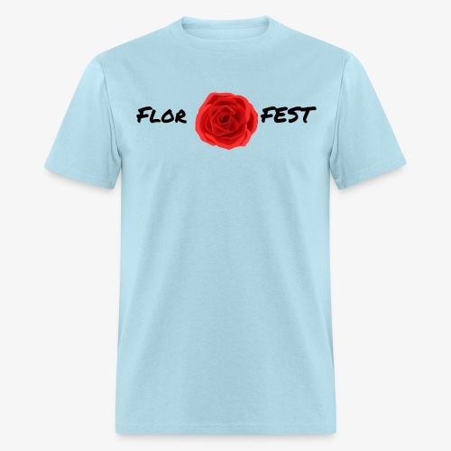 flor fest | black text - Men's T-Shirt