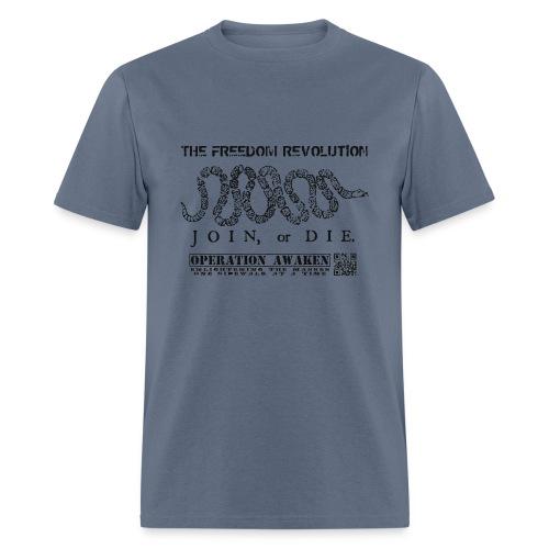 freedom revoution black png - Men's T-Shirt