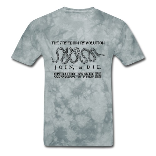 freedom revoution black png - Men's T-Shirt