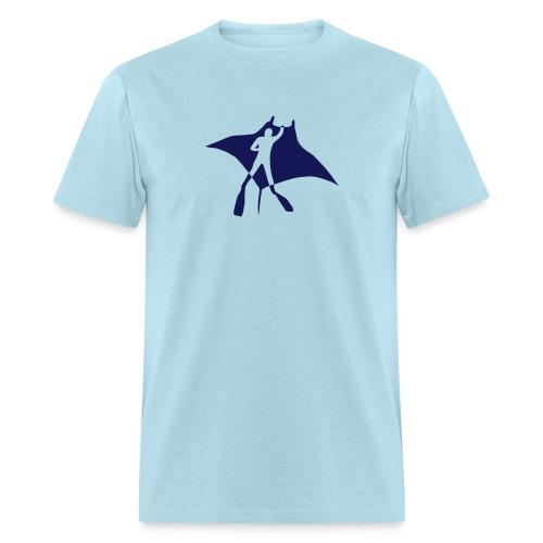 manta ray sting scuba diving diver dive fish ocean - Men's T-Shirt