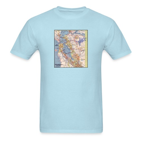 Phillips 66 Zodiac Killer Map June 26 - Men's T-Shirt