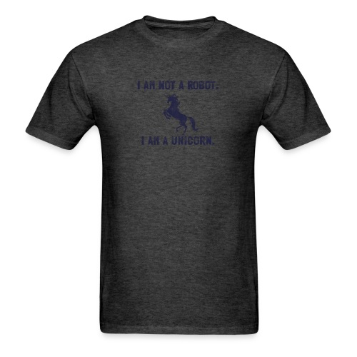 unicorn tall dark blue - Men's T-Shirt