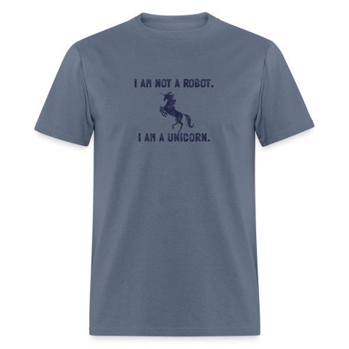 unicorn tall dark blue - Men's T-Shirt