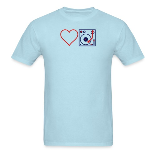 I DJ LOVE THE DJ HEART DJ unique Idea Desi - Men's T-Shirt