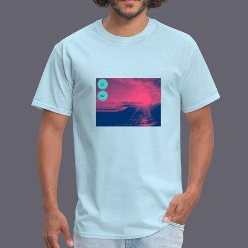 Grey* Blue* - Men's T-Shirt