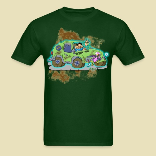 Ongher's UFO Crashed Car - Men's T-Shirt