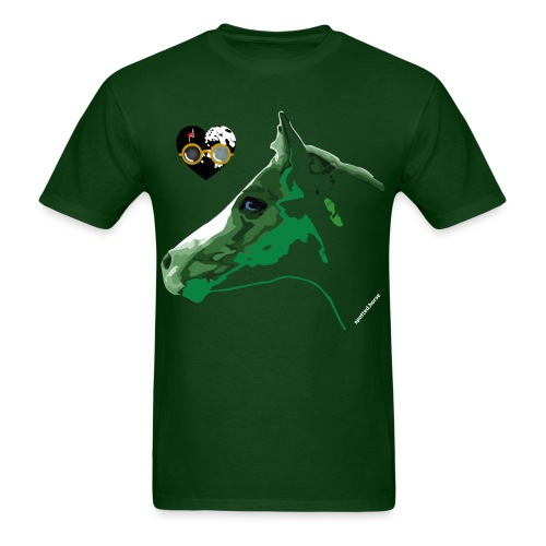 Spotted.Horse Appaloosa Colt Green - Men's T-Shirt