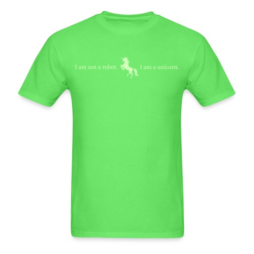 unicorn 3 final light green - Men's T-Shirt