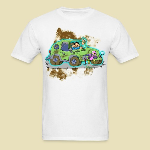 Ongher's UFO Crashed Car - Men's T-Shirt