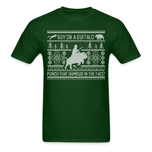 Guy on a Buffalo X-mas 17 - Men's T-Shirt