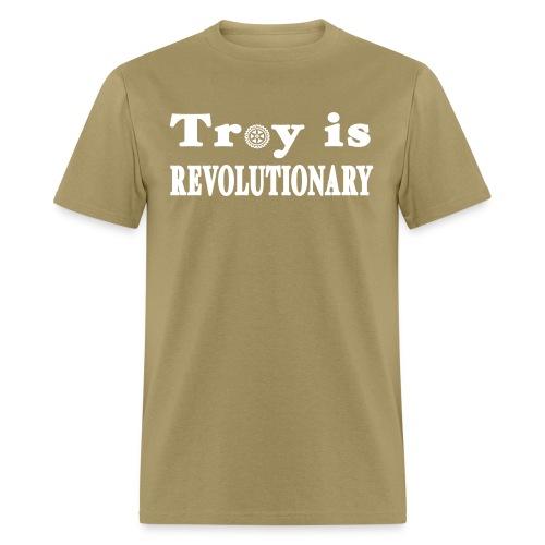New York Old School Troy is Revolutionary Shirt - Men's T-Shirt