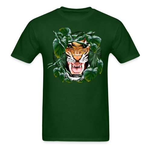 Tiger thru the leaves - Men's T-Shirt