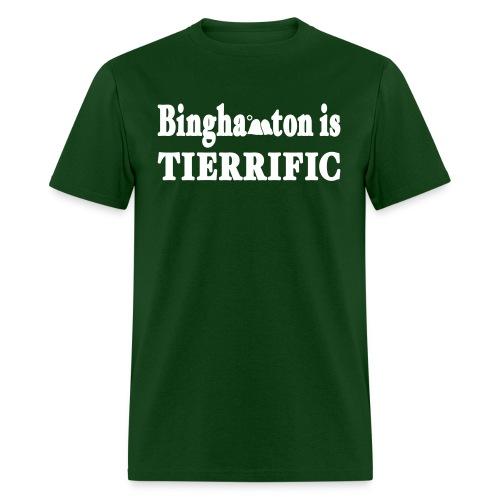 New York Old School Binghamton is Tierrific Shirt - Men's T-Shirt