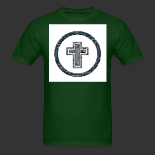 cross n circle - Men's T-Shirt